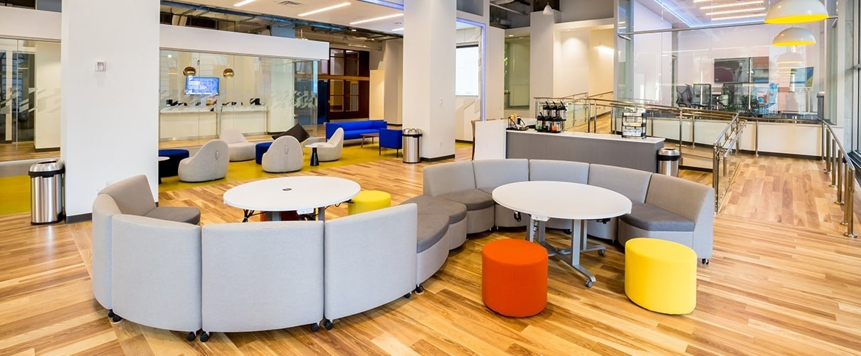 First Financial Bank open community work space and innovation hub located at 4th & Vine in Cincinnati Ohio