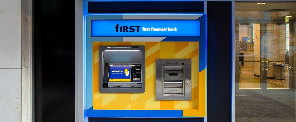 First Financial Bank storefront ATM